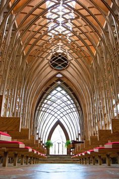 Arkansas (there are three chapels that look very similar, but the original is Thorncrown Chapel near Eureka Springs).  One of the most romantic places in the US!