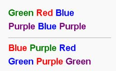 The Stroop Effect: Measuring Our Unconscious (click thru for analysis)