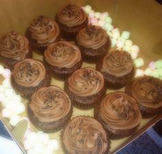 Chocolate Hazelnut Cupcake topped with Nutella buttercream
