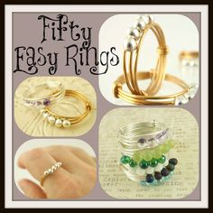 Fifty Easy Rings Tutorial - Finger Rings - Fast and Easy. $ 5.00, via Etsy.