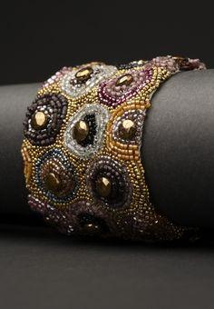 ANDREA GUTIERREZ JEWELRY bead bracelet, cuff, beaded bracelets, beadingembroideri bracelet