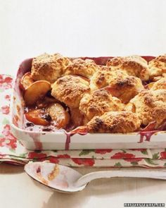 """See the """"Peach-Blueberry Cobbler"""" in our Cherry, Peach, Apricot, and Plum Desserts gallery"""
