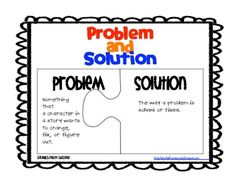 Problem and Solution Activity Pack {freebie}