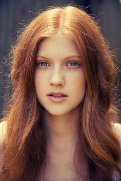 light red hair, beautiful