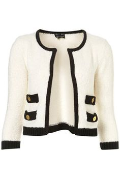 the black and white cardi...