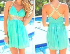 Custom Made Mint Chiffon Sequined Short Prom Dresses, Brdiesmaid Dresses, Cheap Prom Dresses 2014, Homecoming Dresses on Etsy, $164.99