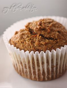 Healthy breakfast inspiration... Ginger Carrot Muffins!