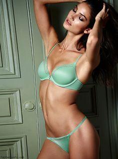 Lily Aldridge for Victoria's Secret lingerie