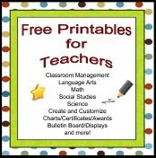 Free printables for teachers
