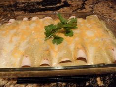 Chicken Enchiladas with Poblano Cream Sauce