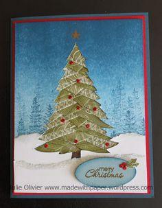 Christmas tree - Iris fold