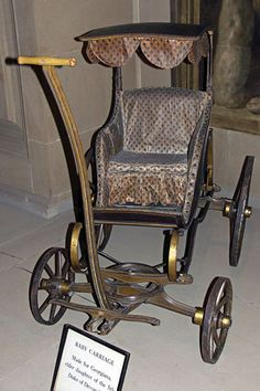 Late 18th century baby carriage, Chatsworth