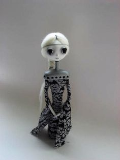 Goth Art Doll  Goth Cloth Doll by MyriamPowellDesigns on Etsy, $70.00  I love her very much!! She is one of my absolute favorites, except for Violet who's sitting happily on my dresser)