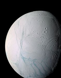 outer limits: enceladus, moon of saturn.