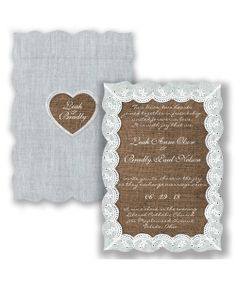Lovely Eyelet Lace Wedding Invitation by David's Bridal