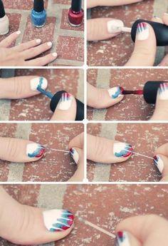 How to Tye Dye Red White  Blue!