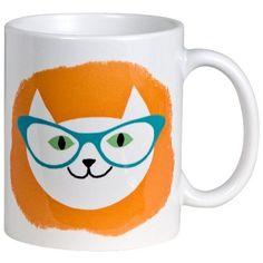 Rock Scissor Paper Cool Cat Glasses Mug