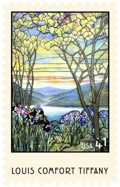 """Magnolias and Irises"" by Louis Comfort Tiffany, circa 1908"