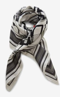 Hermès Black, Red And Multicolor Scarf