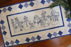 Snow Happens ! Table Runner Pattern From Quilting by the Bay