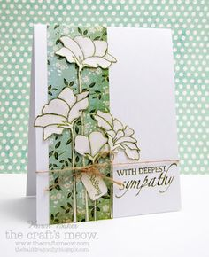 stamp sets, glass flowers, sympathy cards, the craft, sympathi card