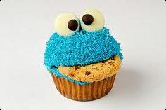 Cookie Monster cupcake!
