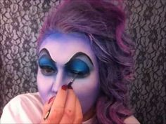 URSULA make-up how-to video (video suggestions link to some other really cool Disney makeup tutorials).