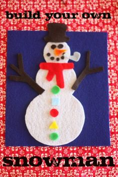 Build-Your-Own Snowman (in a bag) - Pinned by @PediaStaff – Please visit http://ht.ly/63sNt for all (hundreds of) our pediatric therapy pins