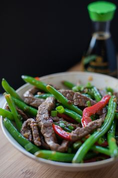 Spicy Ginger Beef and Veggie Stir Fry in 30 minutes or less