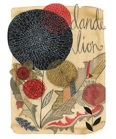art journal, zinnia, collag
