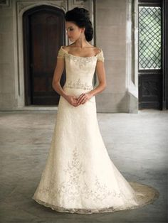 moncheri, wedding dressses, idea, bridesmaid dresses, weddings, gowns, mon cheri, cheri 18233, sleeves