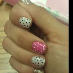 Glitter with polka dots!