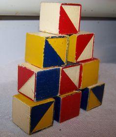 vintage nautical wood blocks