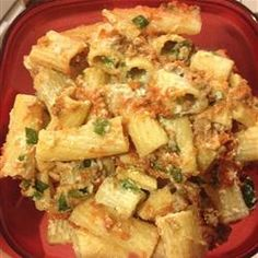 Baked ziti - creamy, savory and just perfect