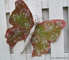 mixed media butterfly sculpture