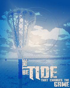 "Lacrosse Motivational Poster Original Design ""Be the Tide"" #lacrosse #poster #motivational"