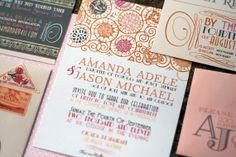 art deco wedding invitation suite by juliaspoppies on Etsy