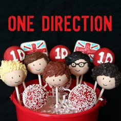 12 One Direction British Boy Band Cake Pops for by SweetWhimsyShop, $41.00- how amazing is this!? one direction cakes, band cake, 1d parti, birthday parties, direct cake, cake pops, 1d cake, party cakes, direct parti