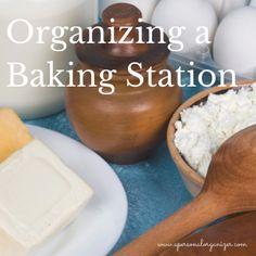 baking station organizer
