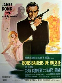 From Russia with Love, 1970s - original vintage poster listed on AntikBar.co.uk