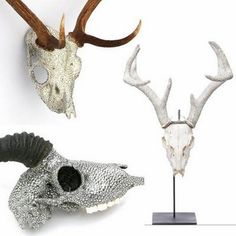 Swarovski Crystal Encrusted Animal Skulls