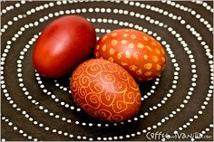 Polish Easter eggs dyed in onion shells.