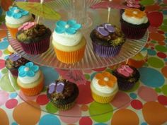 Cupcakes for Luau birthday party