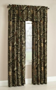 Mossy Oak Break-Up Infinity Window Curtains. Bring the best of hunting and outdoors to any space.