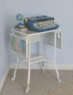 map typewriter table