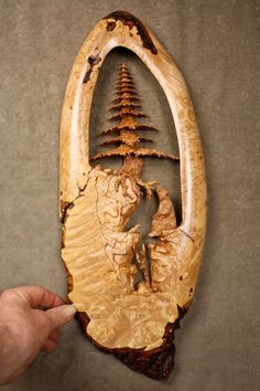Fabulous Handmade Wood Carving Christmas Gift Sculptures and Figures by Claude Freaner on Etsy