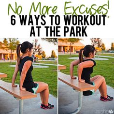No More Excuses! 6 Ways to Workout at the Park...while your kids play!! #parkworkout