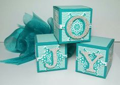 JOY decorative -- and functional -- boxes. Made by Jeanie Tavitas