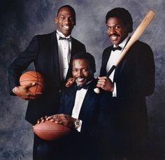 Michael Jordan, Walter Payton, and Andre Dawson.