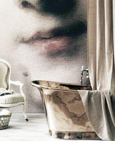 wallpaper mural bathroom #walls
